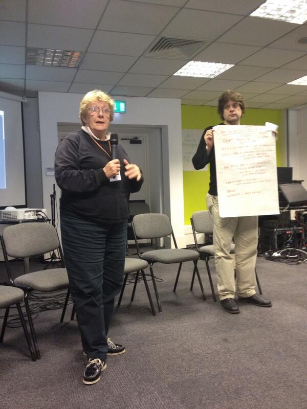 Carol Munt who led the 'Open Space' session on Inclusive Membership
