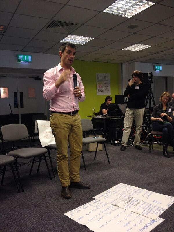 Simon Blake  who led the 'Open Space' session on whether Citizens' Assembly will lead to better outcomes