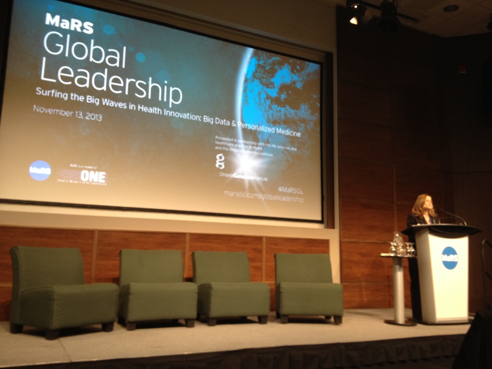 Rhonda Tannenbaum, VP of Business Development at Ontario Genomics Institute introducing the event