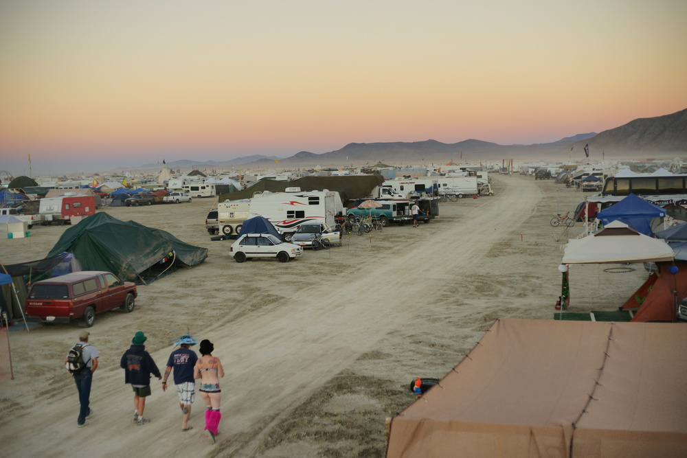 The view of the street from our camp