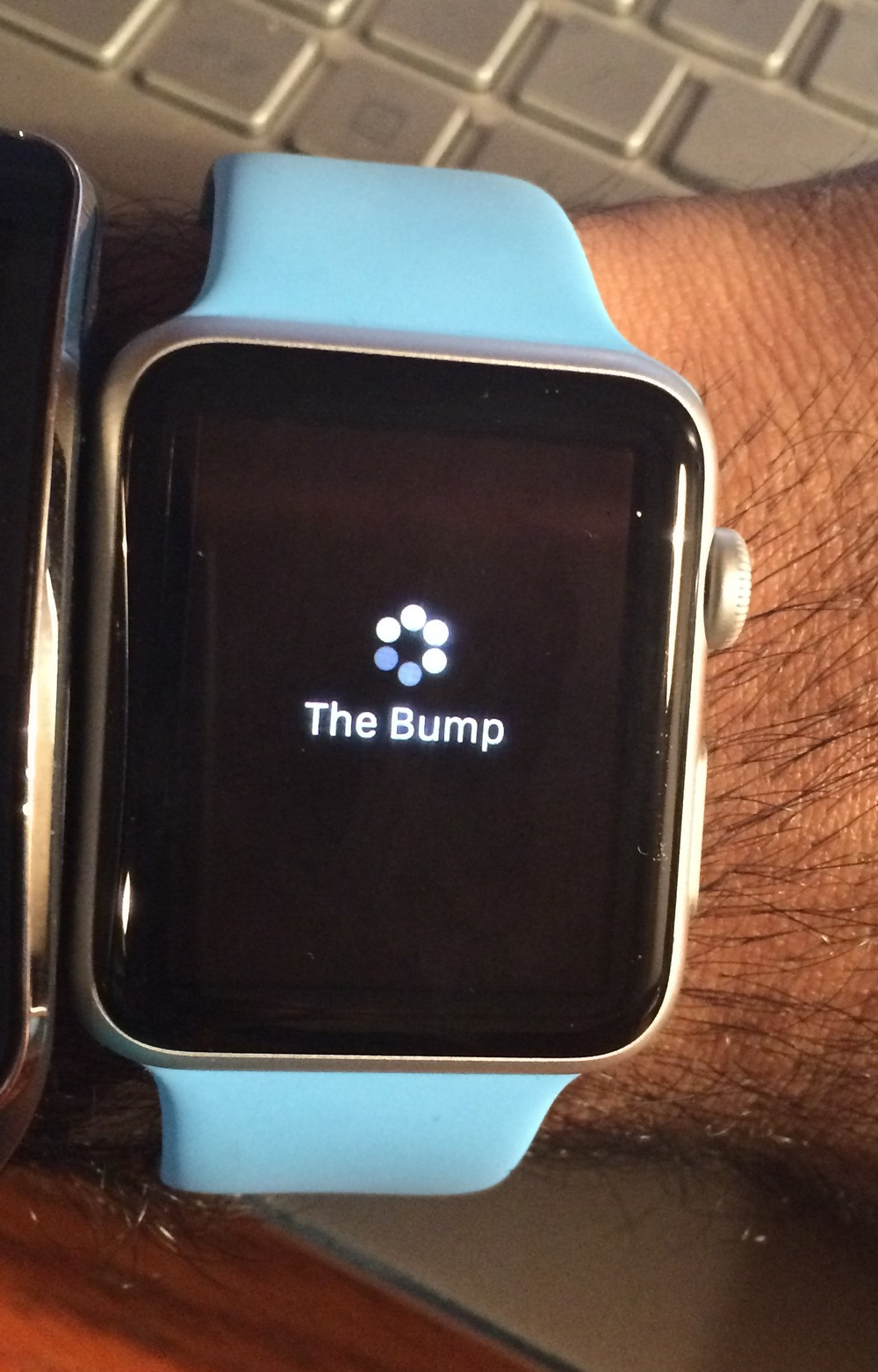 The Bump is an app for pregnant women - this is the screen you see for several seconds as the app loads