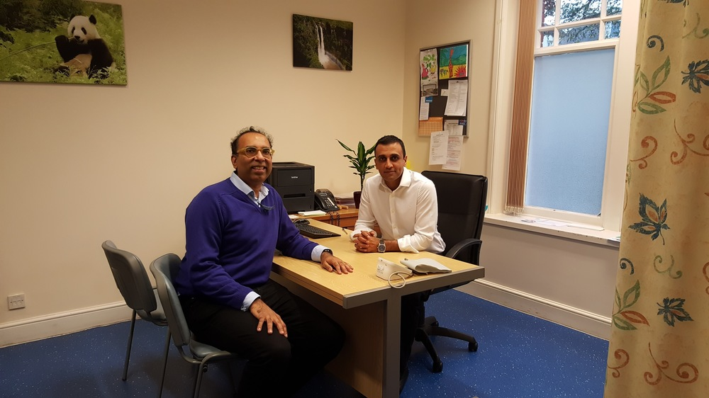 Hearing about new models of care with Dr Manpinder Sahota at his GP practice
