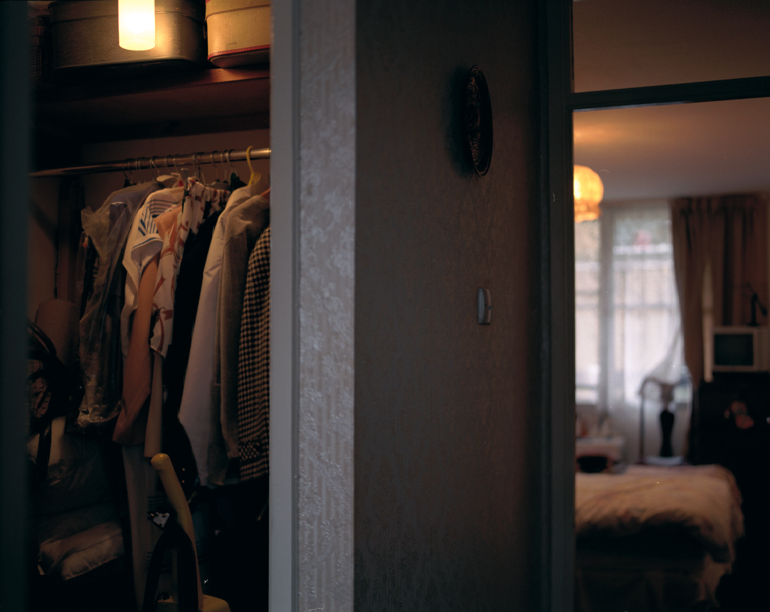 This is a picture of my Nan's flat in South London from the hall cupboard into the bedroom. I took it in 2004 just before she died. About a year ago my uncle asked me to develop some old film (see post above) he found in the cupboard whilst clearing the flat out for the next tenants. The film was around 14 years old [some of me and my cousins] and was amazing to develop. My Nan had taken the photographs. Little undiscovered memories from our lives through her eyes.