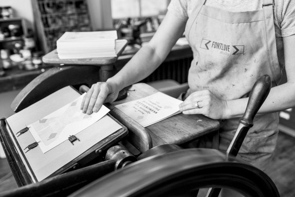custom Letterpress Printing -