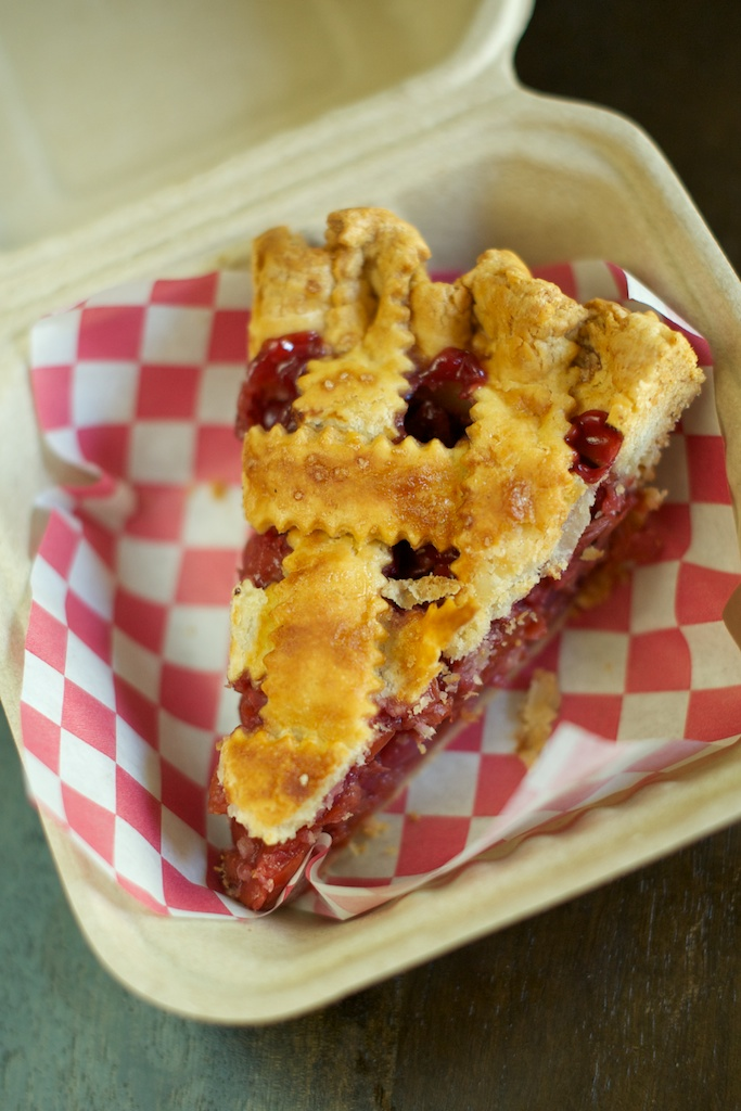 A slice of cherry pie, courtesy of Lauretta Jean's