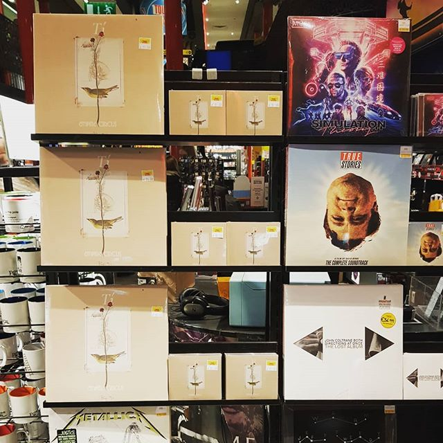 """Looking for good music to take home with you this weekend? """"Tí"""" is available to buy @towerrecordsdublin and @goldendiscs Tallaght on CD and Vinyl. Hold it in your hands and read the lyrics while you listen. Let it distract you from your screen for a while!! ❤📱☢ #physical #product #cd #vinyl #alsoavailable #muse #truestories #johncoltrane #metallica #album #therealdeal"""
