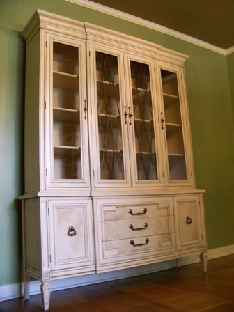 Faux painted China Hutch
