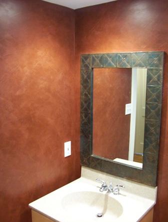 Venetian plaster luxe walls for Venetian plaster bathroom ideas