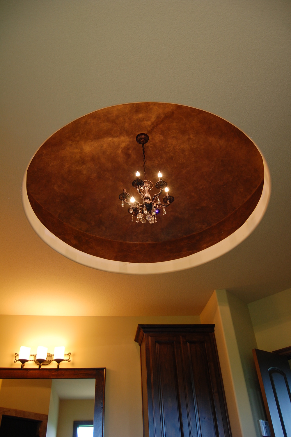 Metallic Dome faux finish