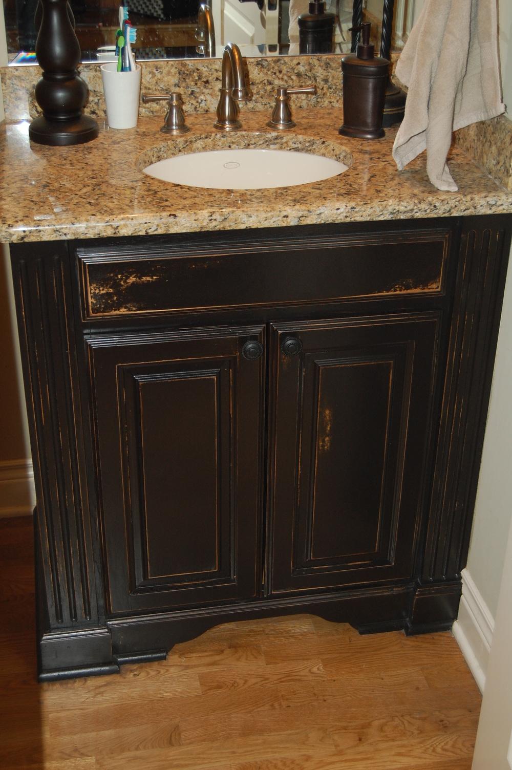 Distressed black bathroom vanity - Distressed Black Bathroom Vanity Jpg Distressed