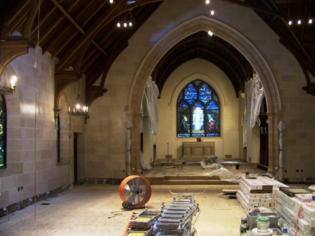 St. Paul's Church, during renovation