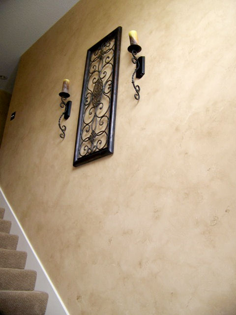 Tuscan Plaster with overglaze