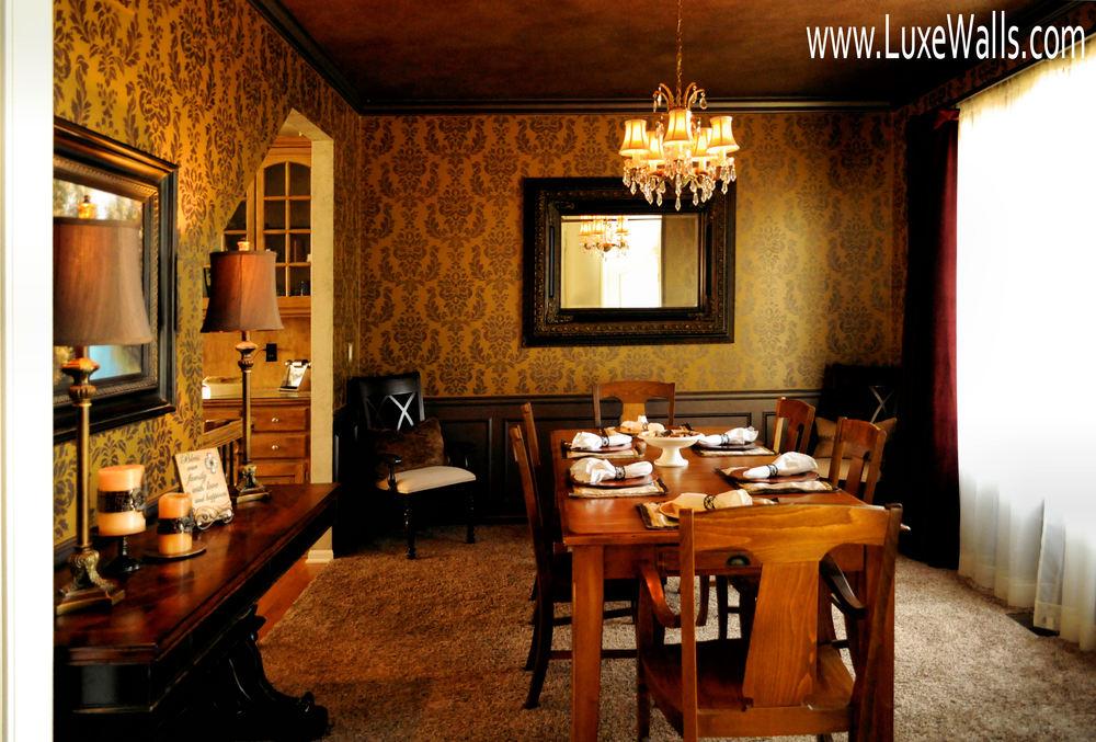 Damask dining room
