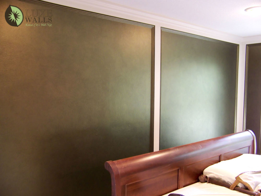 Metallic Paint For Walls : Straight painting — luxe walls