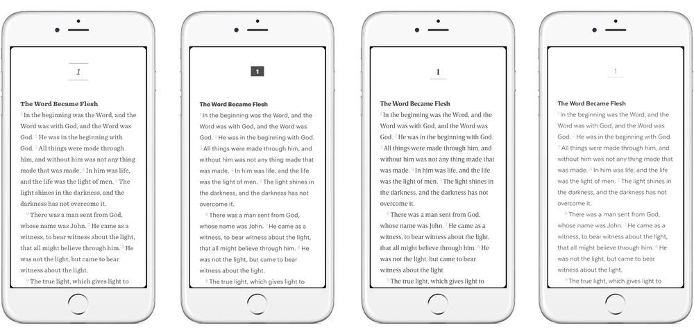 Four text modes