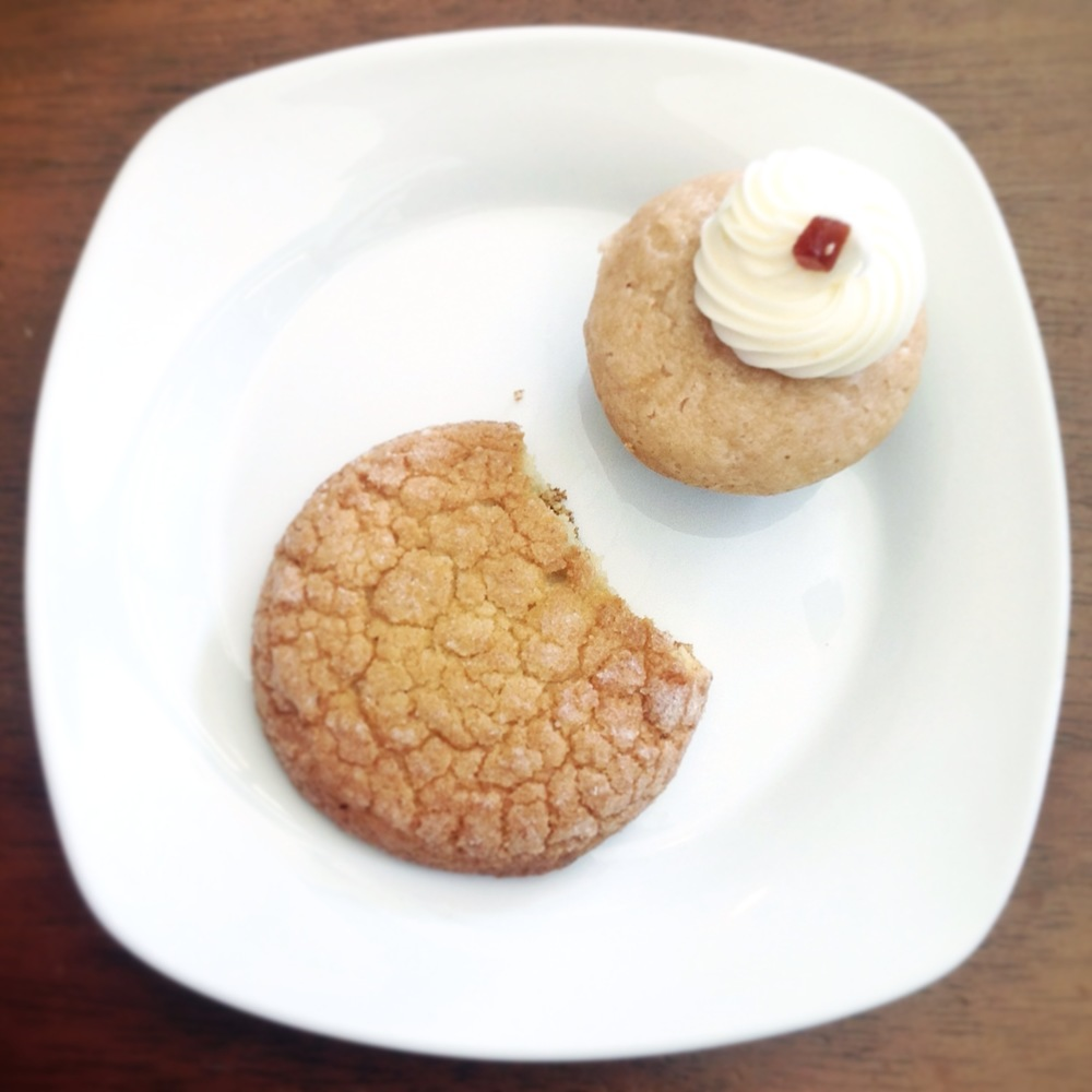 What I ate (Sugar Cookie new to the menu, and a Guava cupcake which is pure perfection)