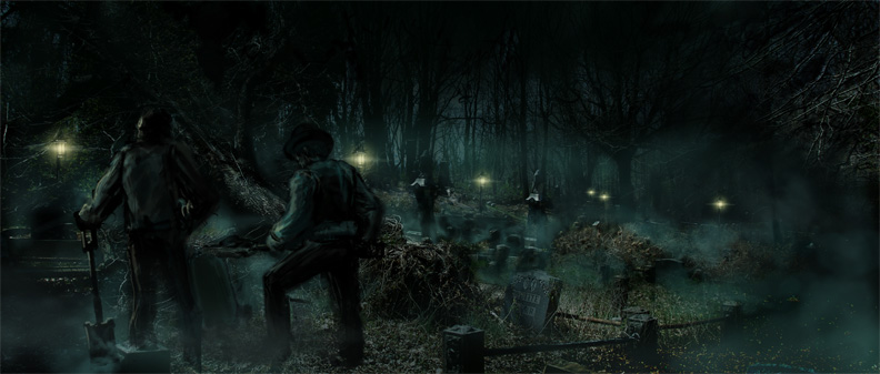 The Cemetery - concept painting