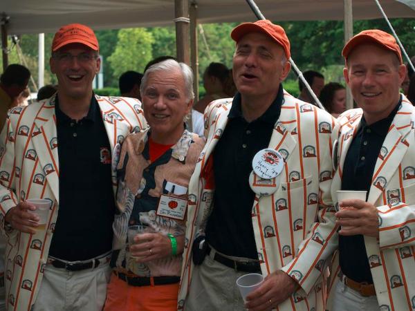 Julian Heller '79, Stu Rickerson '71, Hank Maquire '79, George Wood '79