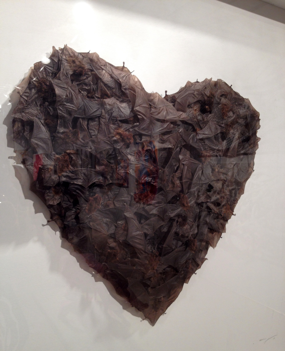 This heart made of taxidermy bats was pretty spectacular.