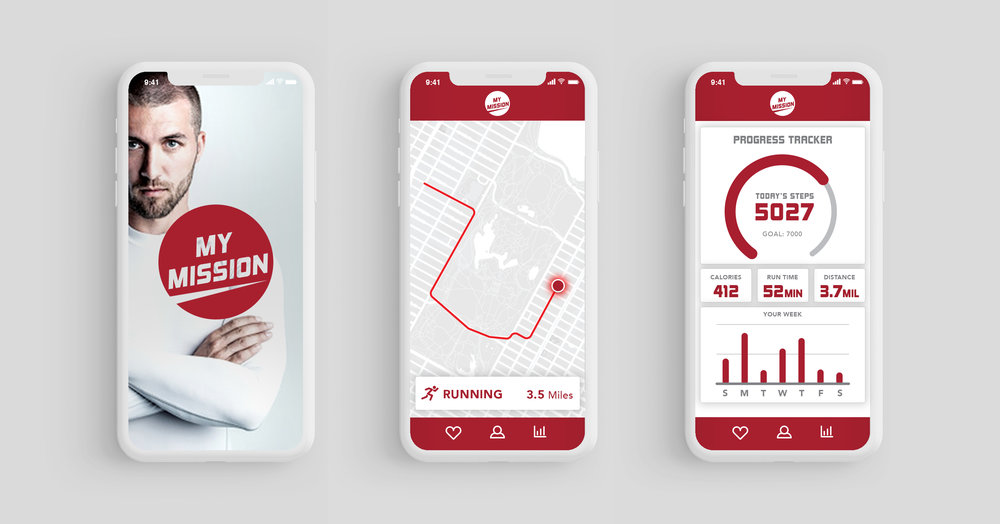 """MY MISSION"", a conceptual fitness app tied to Mission Product."