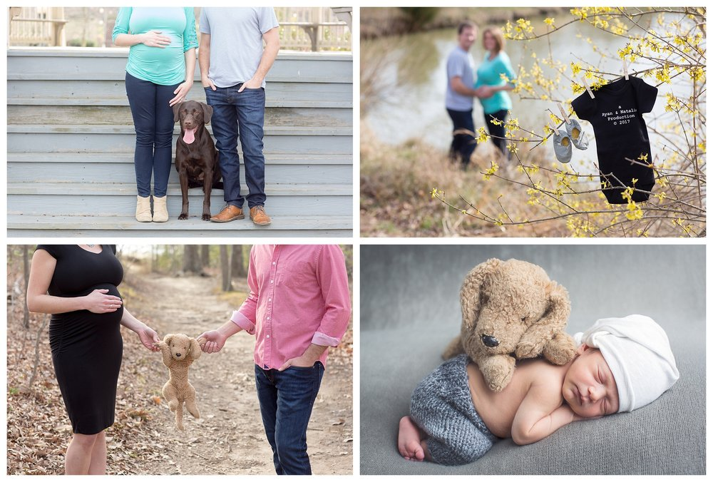 Bump & Baby Package $1000  Includes Maternity Session and Full Newborn Session.