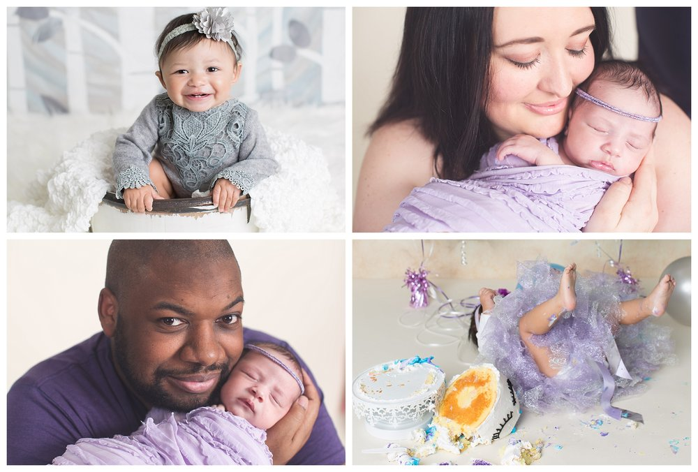 First Year Package $1500 Includes Full Newborn, 4 Month, 6 Month, 12 Month sessions.