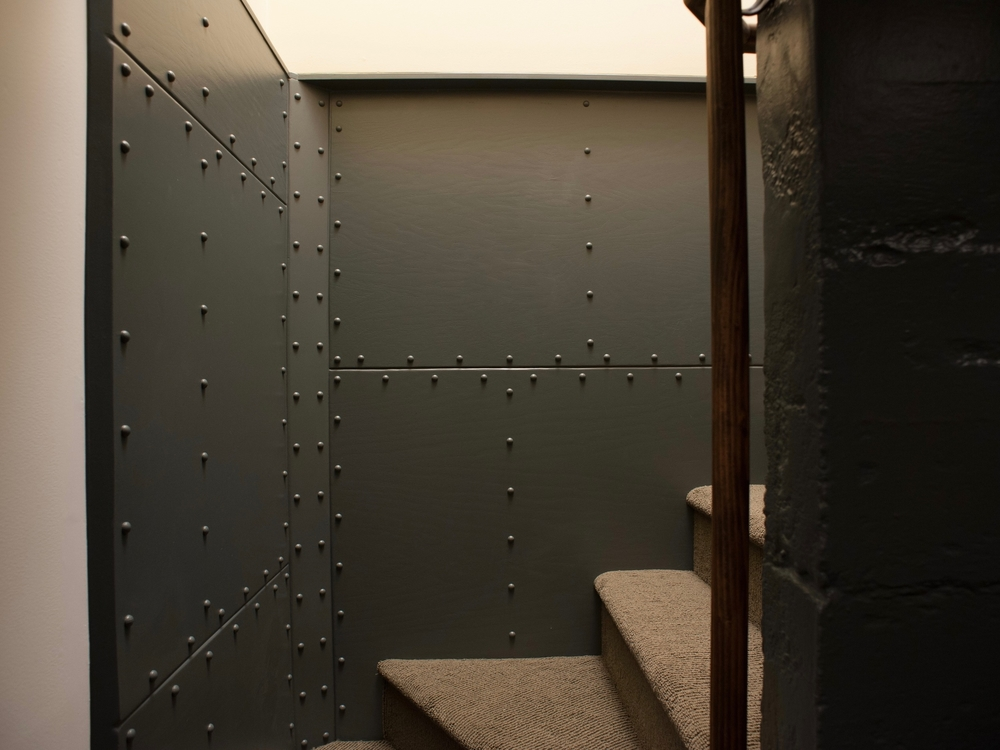 AFTER: Dramatic, interesting stairwell.