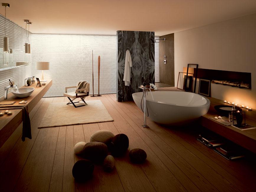 Comptoir de salle de bain ambiance feutrée