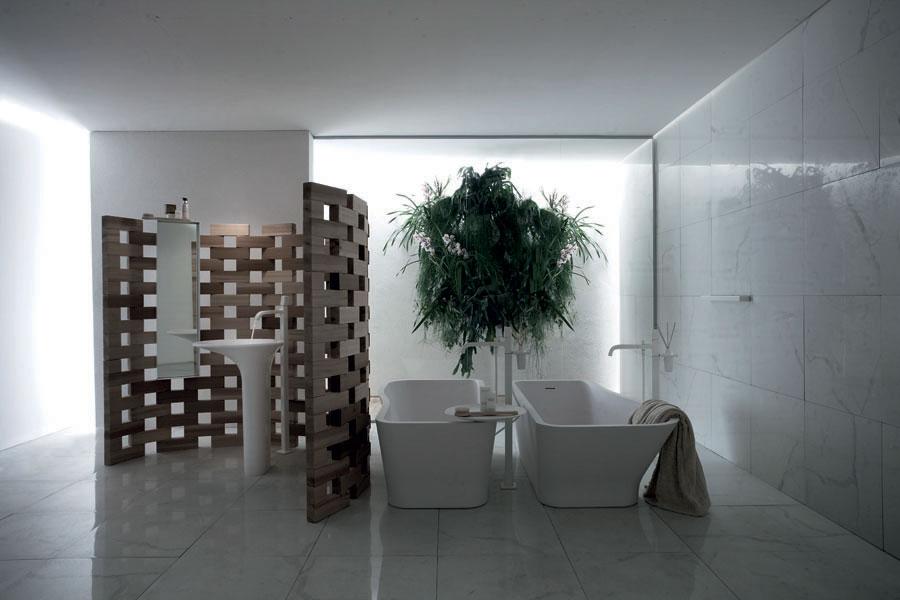 Salle de bain avec effet marbre
