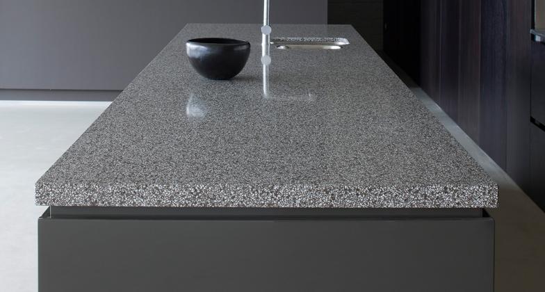 Comptoir de cuisine quartz gris