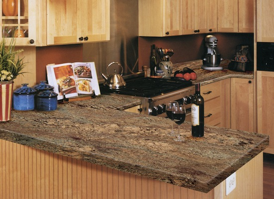 Kitchen granite countertops comptoir cuisine granite - Comptoir de cuisine bordeaux ...