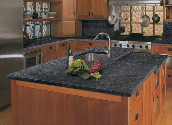 Kitchen granite countertops granite au sommet - Comptoir de ceramique cuisine ...