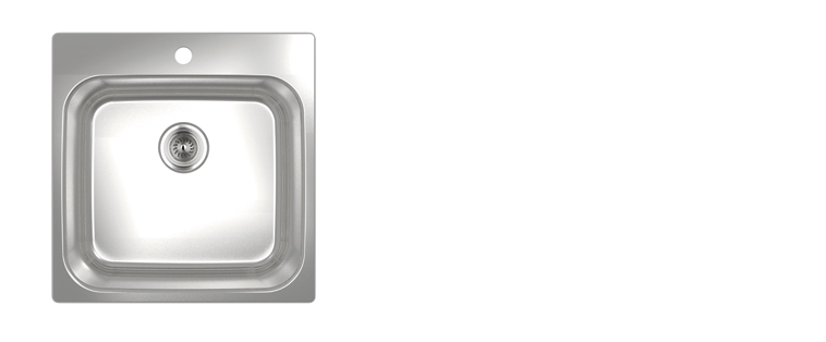 Évier de cuisine acier inoxydable Rubi Pino 460S