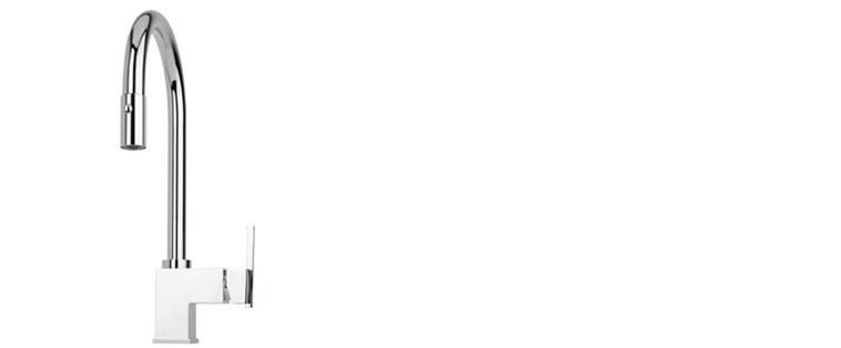 Robinet de cuisine RUBI avec douchette 2 jets CANELLA
