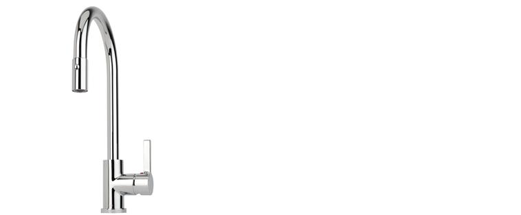 Robinet de cuisine RUBI avec douchette 2 jets ORIGANO