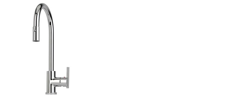 Robinet de cuisine RUBI avec douchette 2 jets ESTRAGO