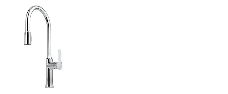 Robinet de cuisine RUBI avec douchette 2 jets JASMIN