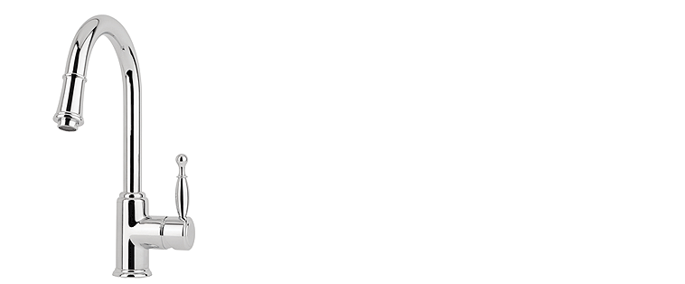 Robinet de cuisine RUBI avec douchette BASILICO