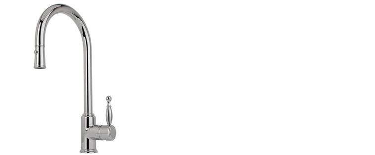 Robinet de cuisine RUBI avec douchette 2 jets BASILICO