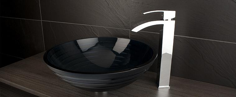 Robinet lavabo salle de bain Rubi Fall surélevé