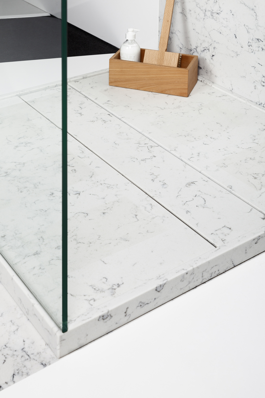 Base de Douche quartz imitation marbre - Lyra