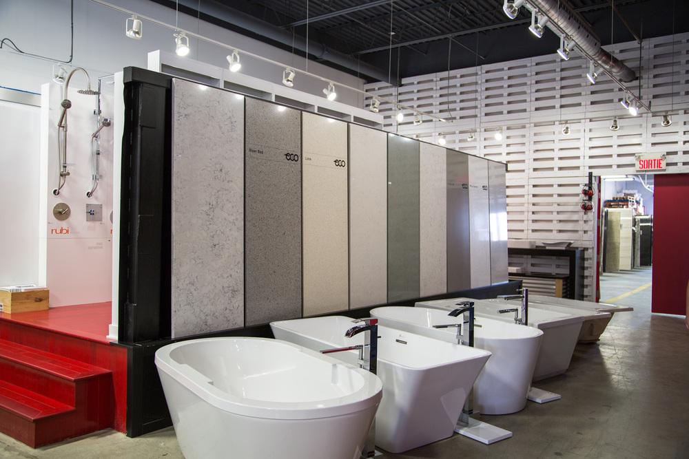 Granite au sommet comptoir de granite quartz marbre for Boutique salle de bain