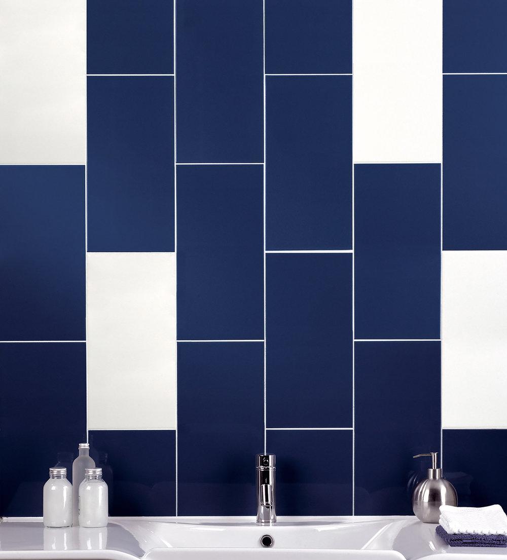Arquitectos, petrol blue + white