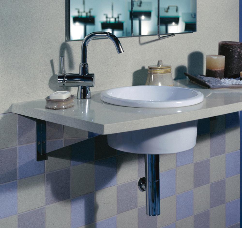 lavabo salle de bain quartz silestone gris montreal