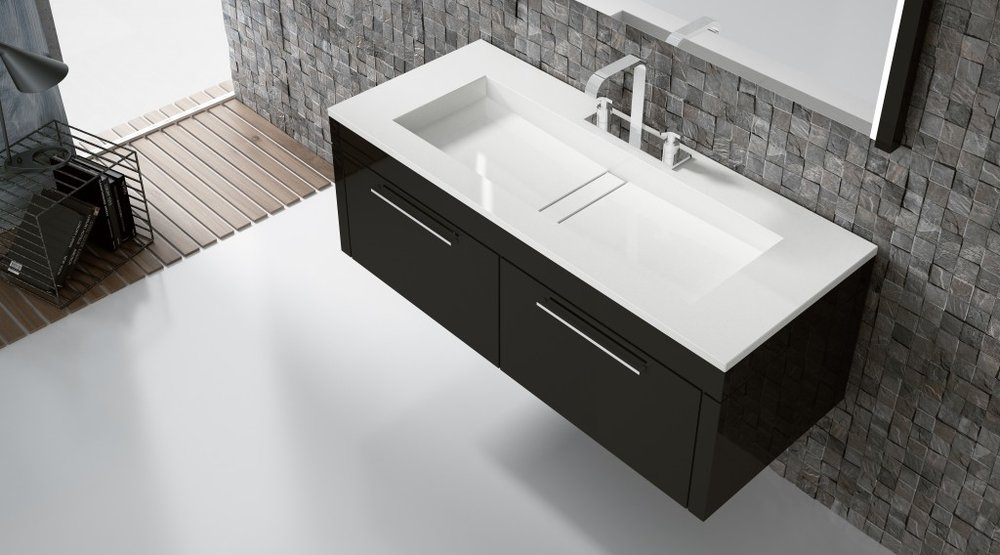 lavabo quartz salle de bain Silestone white zeus