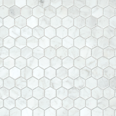 Mos. Carrara White Hexagonal