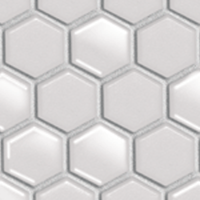 Hex & Dac, Mos. Hex 25mm White Matt Gloss