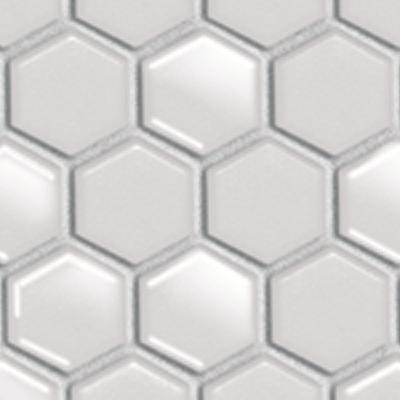 Mosaïque Hex & Dac, white matt gloss