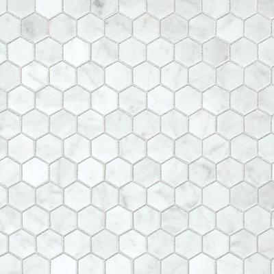 Mos. carrara white hexagonal