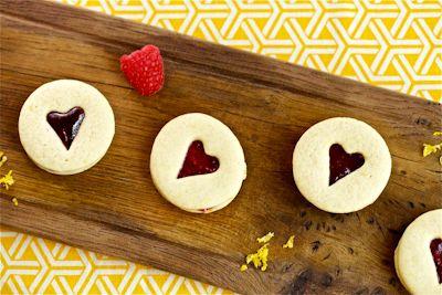 Raspberry Lemon Jam Sandwich Cookie